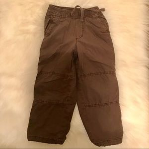 Boys 4T Brown Old Navy Lined Pants